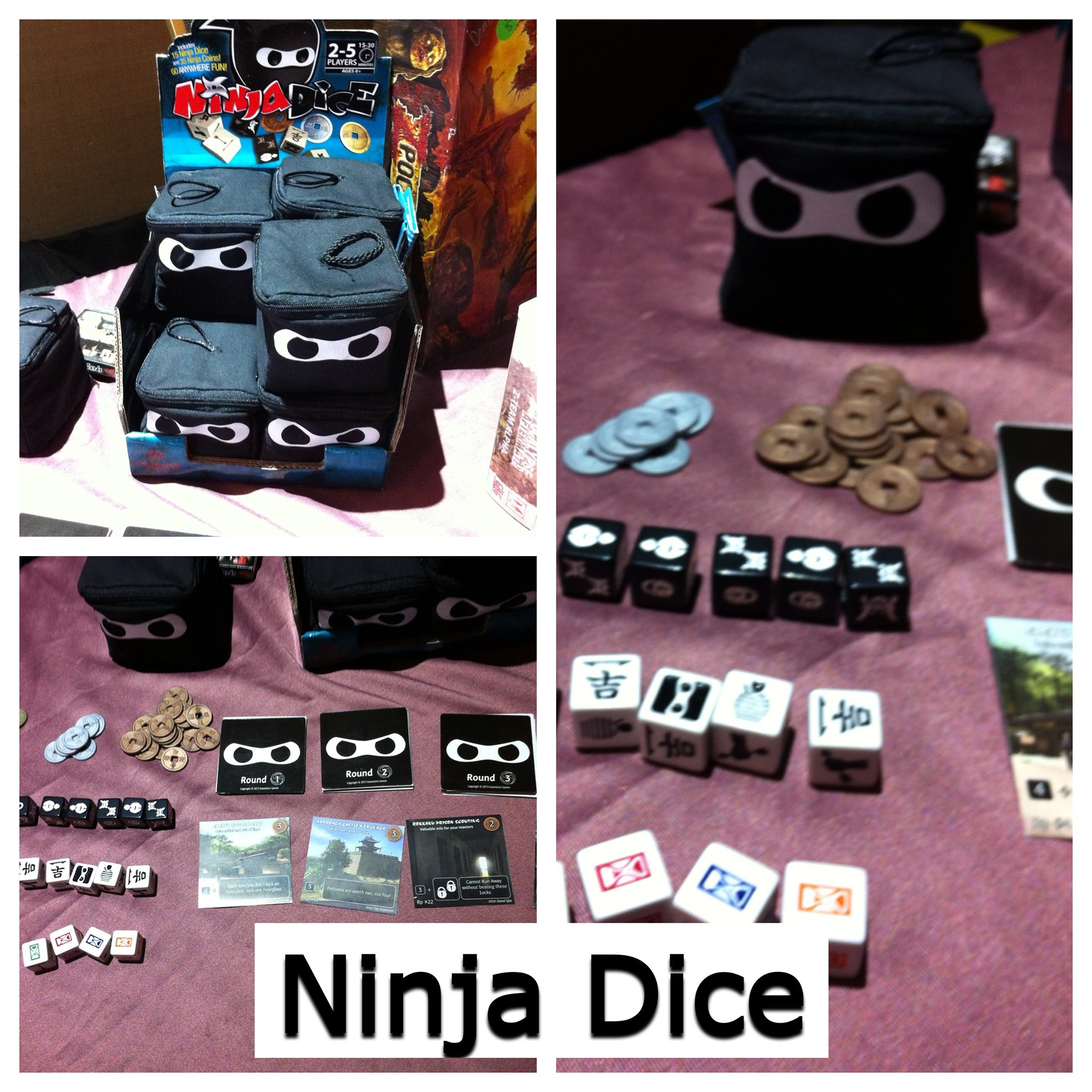 Reviews in a Nutshell: NinjaDice – TotalCon 28